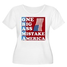 OBAMA - One Big Ass Mistake Plus Size T-Shirt