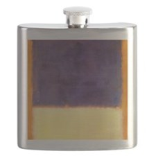 rothko-orange box with purple & yellow Flask