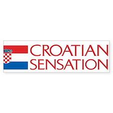 Croatian Sensation Bumper Bumper Sticker