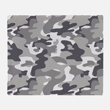 Urban Camouflage Throw Blanket