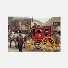 Horses and stagecoach, Colorado, USA Magnets