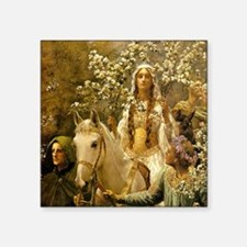"""Guinevere by Collier Square Sticker 3"""" x 3"""""""