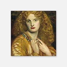"Helen of Troy by Rossetti Square Sticker 3"" x 3"""