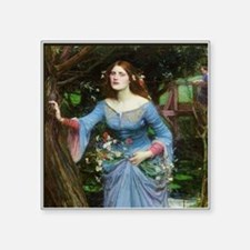 "Ophelia by Waterhouse Square Sticker 3"" x 3"""