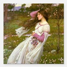 "Windswept by Waterhouse Square Car Magnet 3"" x 3"""