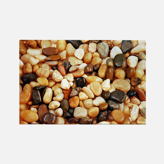 Shiny brown beach pebbles Magnets