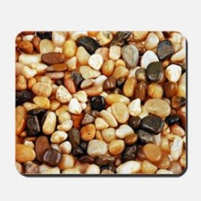 Shiny brown beach pebbles Mousepad