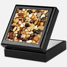 Shiny brown beach pebbles Keepsake Box