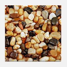 Shiny brown beach pebbles Tile Coaster