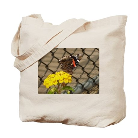 Butterfly On A Yellow Lantana #2 Tote Bag