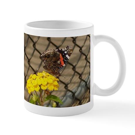 Butterfly On A Yellow Lantana #2 Mug
