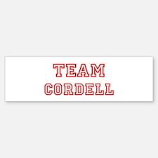 Team CORDELL (red) Bumper Bumper Bumper Sticker
