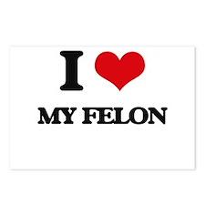 I Love My Felon Postcards (Package of 8)