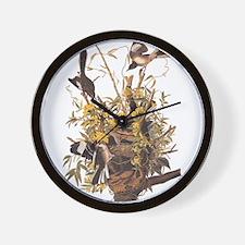 Audubon's Mocking Bird Wall Clock