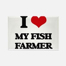 I Love My Fish Farmer Magnets