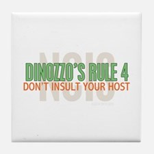 Dinozzo's Rule 4 Tile Coaster
