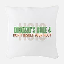 Dinozzo's Rule 4 Woven Throw Pillow