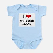 I Love My Floor Plans Body Suit