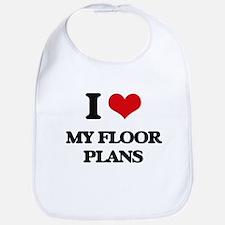 I Love My Floor Plans Bib
