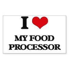 I Love My Food Processor Decal