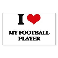 I Love My Football Player Decal