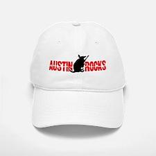 Austin Armadillo Rocks Guitar Baseball Baseball Cap