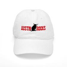Austin Armadillo Rocks Guitar Baseball Cap