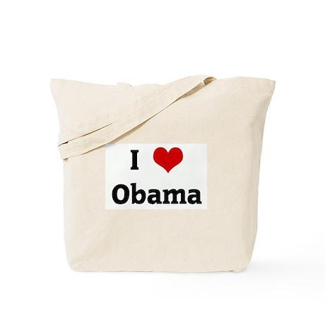 I Love Obama Tote Bag