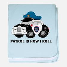 POLICE CAR baby blanket