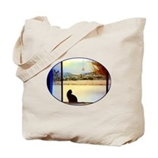Tosca's Winter Window Tote Bag