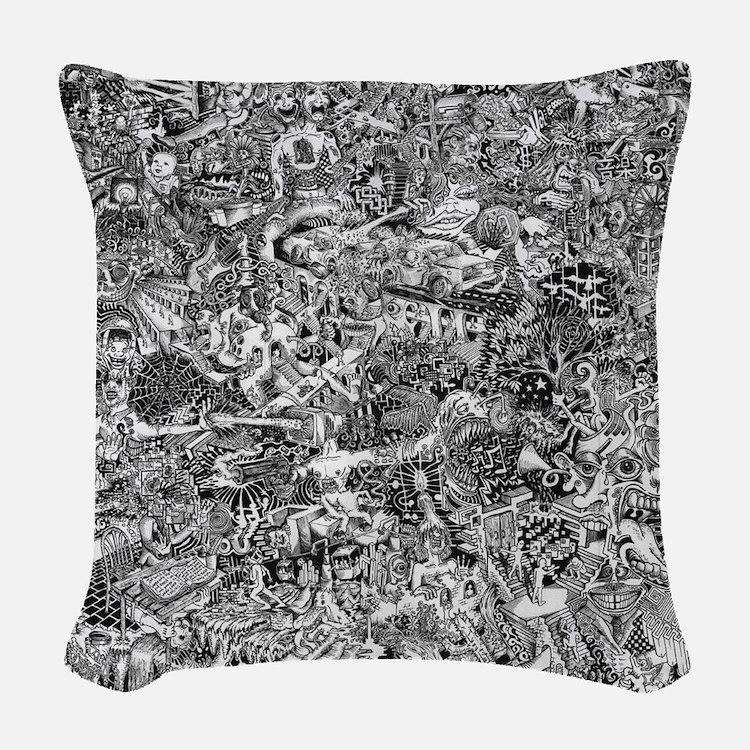 Epic Chaos Woven Throw Pillow
