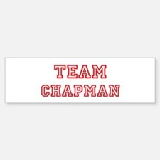 Team CHAPMAN (red) Bumper Bumper Bumper Sticker