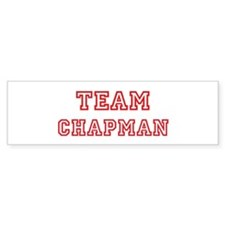 Team CHAPMAN (red) Bumper Bumper Sticker