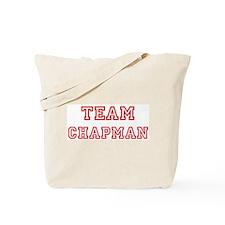 Team CHAPMAN (red) Tote Bag