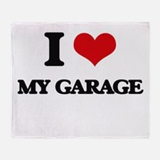I Love My Garage Throw Blanket