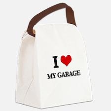 I Love My Garage Canvas Lunch Bag