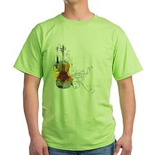 Violin Art 01 Ash Grey T-Shirt
