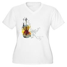 Violin Plus Size T-Shirt