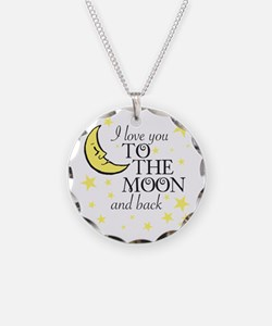 I Love You To The Moon And Necklace