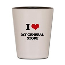 I Love My General Store Shot Glass