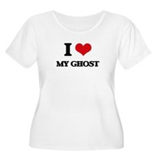 I Love My Ghost Plus Size T-Shirt