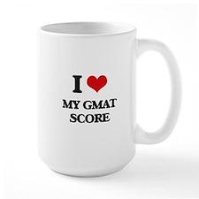 I Love My Gmat Score Mugs