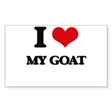 I Love My Goat Decal