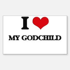 I Love My Godchild Decal
