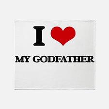 I Love My Godfather Throw Blanket