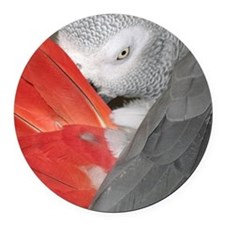 Elegant Grey Round Car Magnet