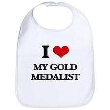 I Love My Gold Medalist Bib