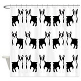 Boston terrier shower curtain Shower Curtains