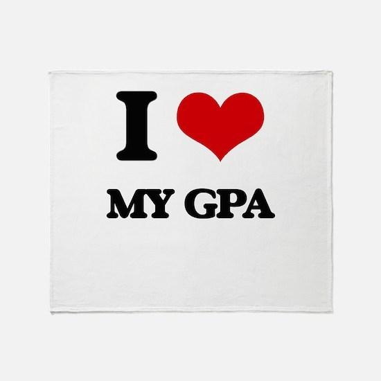 I Love My Gpa Throw Blanket