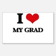 I Love My Grad Decal